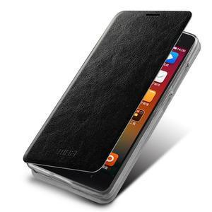Flipové kožené puzdro na Xiaomi Mi4- čierné - 1