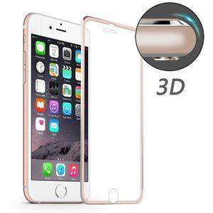 Hat celopološné fixačné tvrdené sklo s 3D rohy na iPhone 7 a iPhone 8 - ružovozlaté lemy - 1