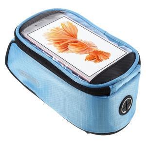 Prostorná brašna na kolo pro mobilní telefony do rozměru 158,1 x 78 x 7,1 mm - modrá - 1