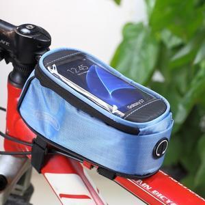 Brašna na kolo s úložným prostorem pro mobily do rozměru 138,3 x 67,1 × 7,1 mm - modrá - 1