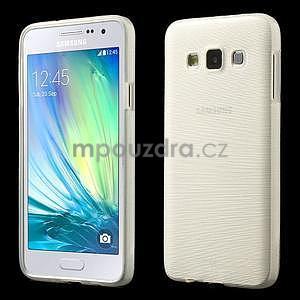 Broušené puzdro pre Samsung Galaxy A3 - bílá - 1