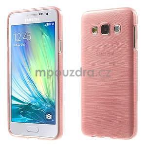 Broušené puzdro na Samsung Galaxy A3 - ružová - 1