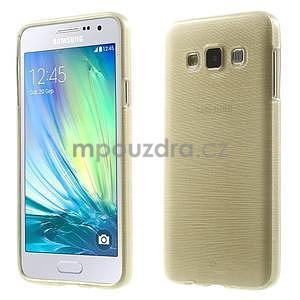 Broušené puzdro na Samsung Galaxy A3 - zlatá - 1