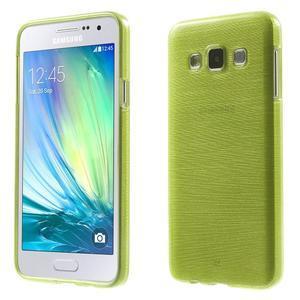 Broušené puzdro pre Samsung Galaxy A3 - zelená - 1