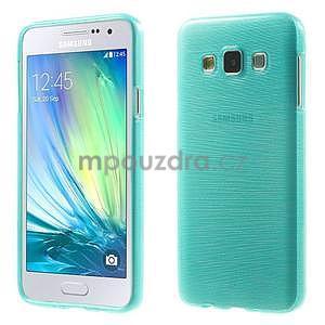 Broušené puzdro pre Samsung Galaxy A3 - tyrkysová - 1
