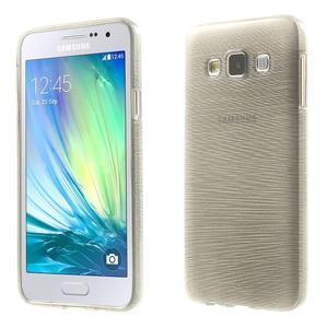 Broušené puzdro na Samsung Galaxy A3 - šedá - 1