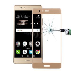 Protinárazové celoplošné tvrdené sklo pre mobil Huawei P9 - zlaté - 1