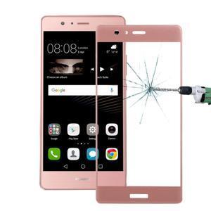 Protinárazové celoplošné tvrdené sklo pre mobil Huawei P9 - zlatoružové - 1