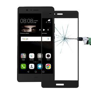 Protinárazové celoplošné tvrzené sklo na mobil Huawei P9 - černé - 1
