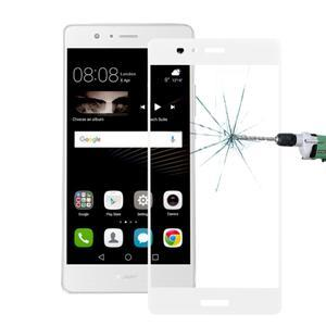 Protinárazové celoplošné tvrdené sklo pre mobil Huawei P9 - biele - 1