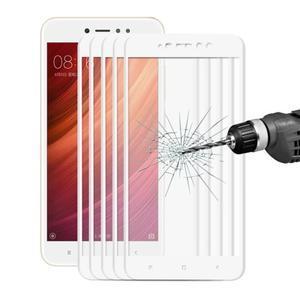 Celoplošné ochranné tvrdené sklo na Xiaomi Redmi Note 5A - biele