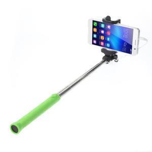 D9X automatická selfie tyč so spínačom - zelená - 1