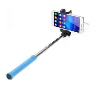 D9X automatická selfie tyč se spínačem - modrá - 1