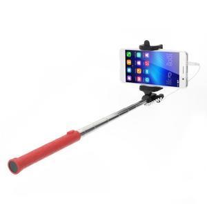 D9X automatická selfie tyč se spínačem - červená - 1