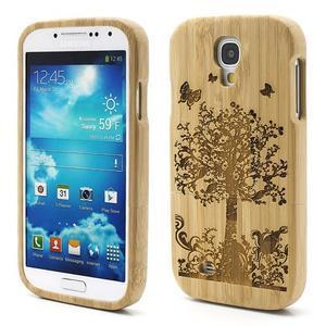Drevené puzdro rozepínací pre Samsung Galaxy S4 - stromeček - 1