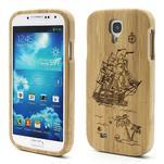 Dřevené pouzdro rozepínací na Samsung Galaxy S4 - loď - 1/7