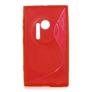 Gélové S-line puzdro pre Nokia Lumia 1020- červené - 1