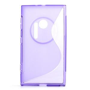 Gélové S-line puzdro pre Nokia Lumia 1020- fialové - 1