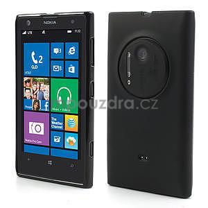 Gélové matné puzdro pre Nokia Lumia 1020- čierné - 1
