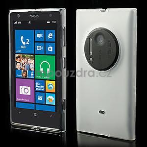 Gélové matné puzdro pre Nokia Lumia 1020- biele - 1
