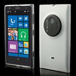 Gélové matné puzdro pre Nokia Lumia 1020- biele - 1/5