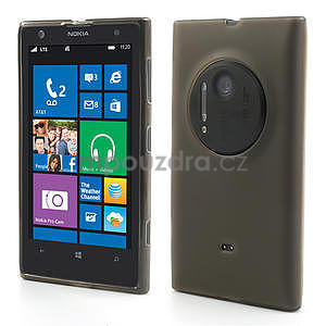 Gélové matné puzdro pre Nokia Lumia 1020- šedé - 1