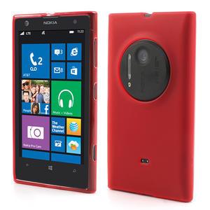 Gélové matné puzdro pre Nokia Lumia 1020- červené - 1