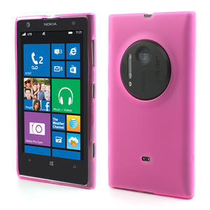 Gélové matné puzdro pre Nokia Lumia 1020- ružové - 1