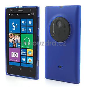 Gélové matné puzdro pre Nokia Lumia 1020- modré - 1