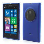 Gélové matné puzdro pre Nokia Lumia 1020- modré - 1/5