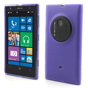 Gélové matné puzdro pre Nokia Lumia 1020- fialové - 1