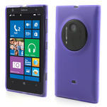 Gélové matné puzdro pre Nokia Lumia 1020- fialové - 1/5
