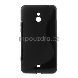 Gélové S-line puzdro pre Nokia Lumia 1320- čierné - 1