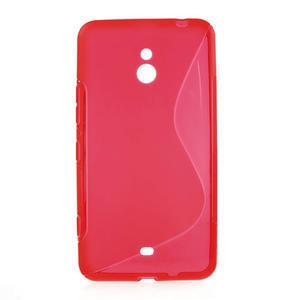 Gélové S-line puzdro pre Nokia Lumia 1320- červené - 1