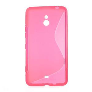 Gélové S-line puzdro pre Nokia Lumia 1320- ružové - 1