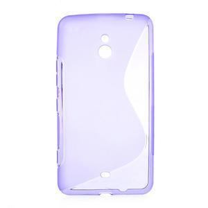 Gélové S-line puzdro pre Nokia Lumia 1320- fialové - 1