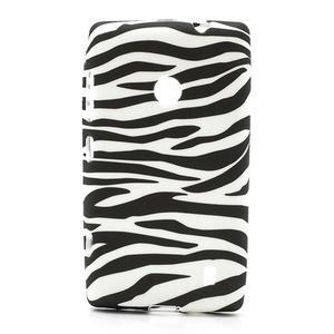 Gélové puzdro na Nokia Lumia 520- zebra - 1