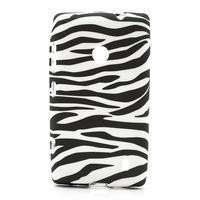 Gélové puzdro na Nokia Lumia 520- zebra - 1/5