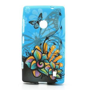 Gélové puzdro na Nokia Lumia 520- motýľ - 1