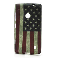 Gélové puzdro na Nokia Lumia 520- USA vlajka - 1/3