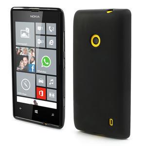 Gélové matné puzdro na Nokia Lumia 520 - čierné - 1