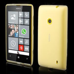 Gélové matné puzdro na Nokia Lumia 520 - biele - 1