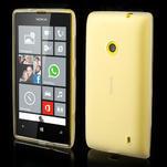 Gélové matné puzdro na Nokia Lumia 520 - biele - 1/5