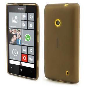 Gélové matné puzdro na Nokia Lumia 520 - šedé - 1