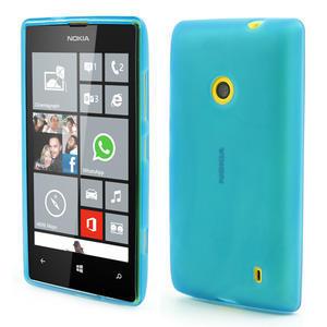 Gélové matné puzdro na Nokia Lumia 520 - svetlo modré - 1