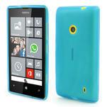 Gélové matné puzdro na Nokia Lumia 520 - svetlo modré - 1/5