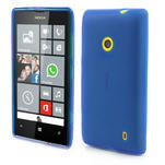 Gélové matné puzdro na Nokia Lumia 520 - modré - 1/5
