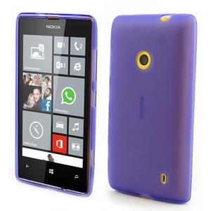 Gélové matné puzdro na Nokia Lumia 520 - fialové - 1