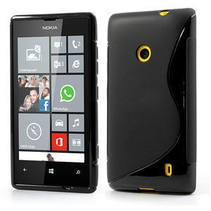 Gélové S-line puzdro na Nokia Lumia 520- čierné - 1