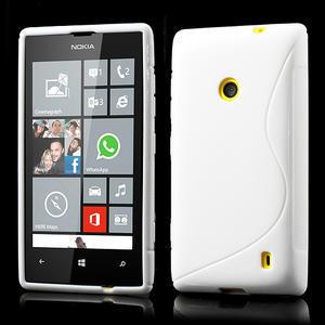 Gélové S-line puzdro na Nokia Lumia 520- biele - 1